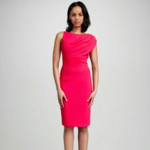 Pink Alexander draped dress by Black Halo